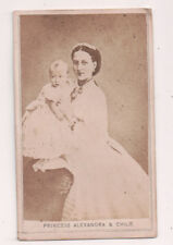 Vintage CDV Princess Alexandra of Denmark Queen of Great Britain  & Child