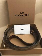 New listing Nib Coach F26176 Signature Small Pet Leash Khaki Saddle Dog Leash Gift Box