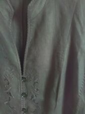 Beautifully detailed Gerry Weber ladies black linen summer jacket..size 16 💖