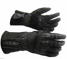 LeatherMotorcycle Motorbike scooter Gloves Lightweight Durable For Men Black 923