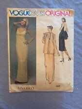Vogue Paris Original 1554 Nina Ricci Dress Pattern Size 10