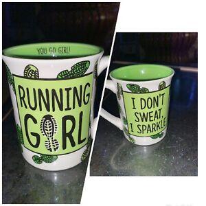 RUNNING GIRL YOU GO Girl Coffee Tea Mug by Lorrie Veasey  MBC