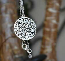 """❤️Silpada STERLING 18"""" necklace N2328 CUT ABOVE filigree Circle Beaded chain"""