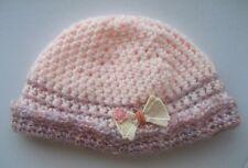 CROCHET-BEANIE/CAP-Baby/Small Child-Size xxSml 46-48cm PinkCrochet wTurn-up Band