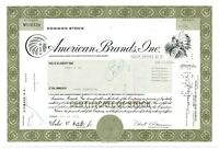 American Brands Inc. Stock Certificate 100 Shares