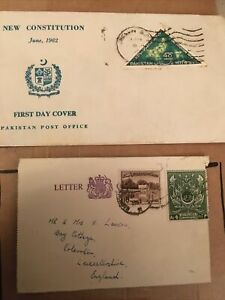 2 X Pakistan Covers/ Envelopes With Stamps On