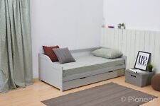 Day Bed Single Bed with underbed. white 2 beds in 1 daybed trundle guest bed 3ft