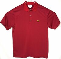 Masters Tech Mens Performance Golf Polo Shirt Augusta Red Striped Size Large