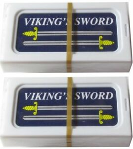 20 Viking's Sword double edge razor blades