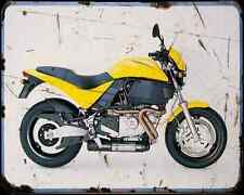 Buell M2 Cyclone 01 3 A4 metal sign moto Vintage Aged