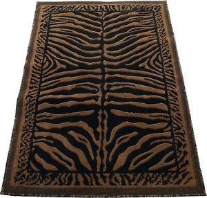 "4x6 Area Rug Black Brown Animal Print Carpet Covering Home Decor (3'11"" x 5'2"")"
