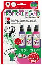 Marabu Fashion SPRAY SET-Spray Peinture pour tissu T SHIRTS ETC-Tropical Island