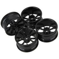Black Aluminum Alloy 10-Spokes Wheel Rim for RC1:10 On-Road Racing Car Pack of 4