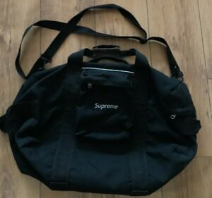 Extremely rare Vintage Supreme duffle black bag Mid 90's