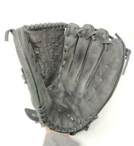 "Easton HAVOC HVC-14 All Leather 14"" Softball Glove RHT Black AR121 Baseball"