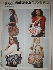 Butterick Pattern 5658 BAGS AND TOTES shoulder and  tote bags purses