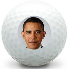 (3-Ball Gift Pack) Top Flite  Mint AAAAA President Obama Logo Golf Balls
