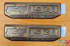 2016 Jeep Wrangler Set Of 2 Willys 75th Anniversary 1941 Emblem Badge OEM
