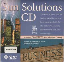 Sun Solutions CD Volume 3 1998 by Sun microsystems