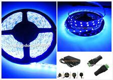 5M UV Ultraviolet 395nm 3528 5050 SMD Purple 300 LED Flex Strip Light 12V Power