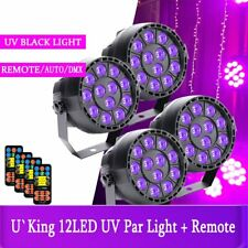 4PCS U`King Stage Lighting 12LED UV DMX Par DJ Club Weeding Party Light+Remote