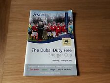 Dubai Duty Free Shergar Cup Raceday programme - Ascot  11 August 2007