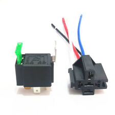 12V Car Automotive On/Off Fused Relay 30A 4-Pin with Holder Socket A33C