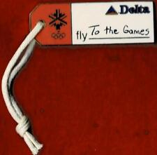Unique 2002 Salt Lake City Delta Luggage Tag Olympic Games Mark Sponsor Pin