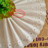 "Embroidery Floral Cotton Lace Trim Ribbon Wedding Fabric Sewing 5.9"" wide FL284"