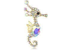 Aurore Boreale Crystal Rhinestone Animal Sea Seahorse Costume Fashion Pin Brooch