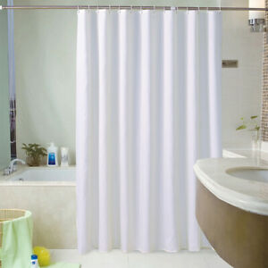 White Fabric Shower Curtain liner, Mildew Resistant and Antimicrobial 86x78inch