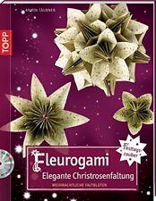 Fleurogami * Elegante Christrosenfaltung * Weihnachtliche Faltblüten * TOPP 3924