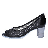 womens shoes LADY SOFT 6 (EU 39) courts black leather patent leather BX587-39