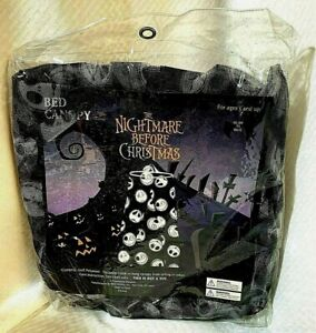 Nightmare Before Christmas Bed Canopy Net Mesh