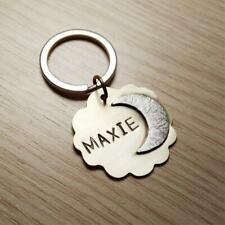 Moon Dog Tag ID, Dog name Tag, Double Sided, Durable, Dog ID Tags, Tags for dogs