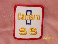 Vintage Camaro SS Embroidered Patch White Gold Red Piping 2 1/2 X 2 7/8