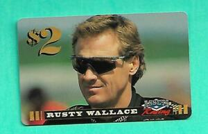 (1) RUSTY WALLACE 1996 ASSETS RACING TWO DOLLAR PHONE  NM+ CARD (V1927)