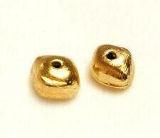 2 Zwischenteile Spacer Silber 925 gebürstet, vergoldet - NEU Geschäftsauflösung