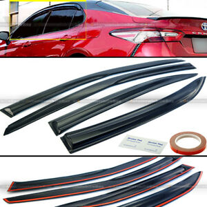 For 18-20 Toyota Camry Sport Mugen Style 3D Wavy Black Tinted Window Visor Vent