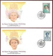 Great Britain FDC, Queen M other's 90th Birthday, Fleetwood Set of 4