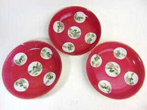 Three Large Chinese Antique Porcelain Plates, 24cm,Qianlong Mark, The LAST BATCH