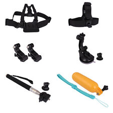 Accessories Set Kit Telescopic Monopod+Head Chest Strap For GoPro Hero1 2 3 3+4