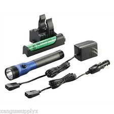 Streamlight BLUE DS Stinger LED HL FLASHLIGHT  AC DC with Piggyback Charger