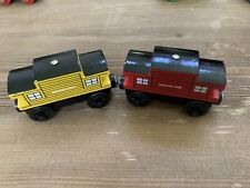 2 Thomas & Friends Wooden Railway Train SODOR LINE CABOOSE 2 colors