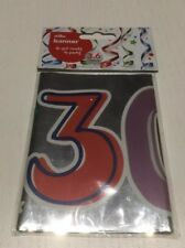 30th Happy Birthday Letter Banner Silver Party Decorations Age 30 3.6m Brand New