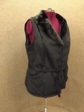 Sporty NEW Black Faux Shearling Suede Belted Vest Faux Fur Lined Sz 2X Rancher