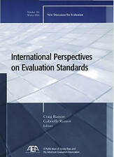 International Perspectives on Evaluation Standards: New Directions for Evaluati