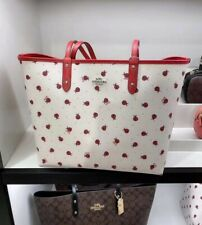 NWT Coach Ladybug City Tote Reversible Purse bag Charm