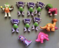 Vintage 1985 McDonalds Tinosaurs Aviva PVC Happy Meal Toys Dinosaurs  Cavepeople