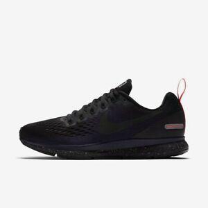 Nike Women's Air Zoom Pegasus 34 Shield - Black/Black/Obsidian (907328-001)